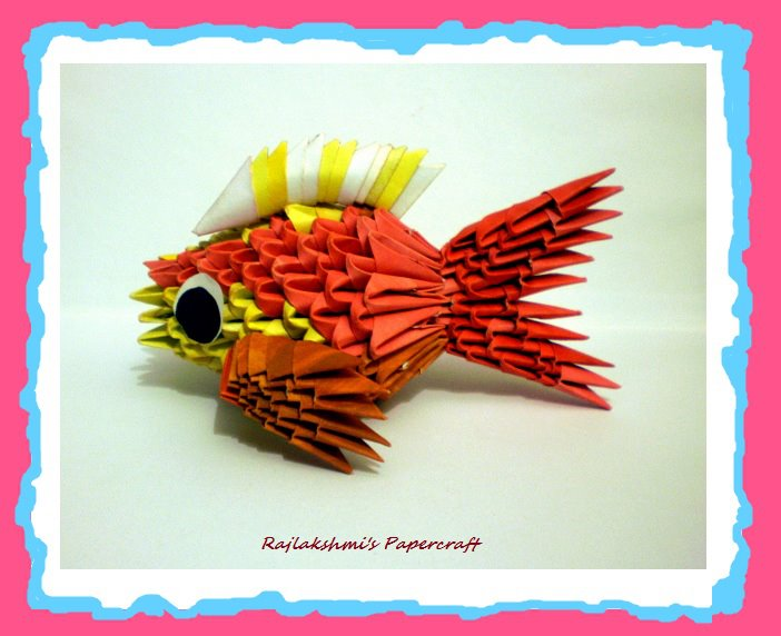3d Origami Fish By Rajlakshmi On Deviantart