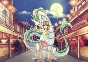 Spirited Away: Chihiro + Haku by Sangcoon