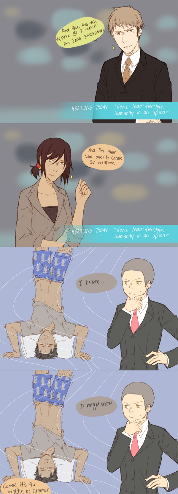 News reporters. by Sangcoon