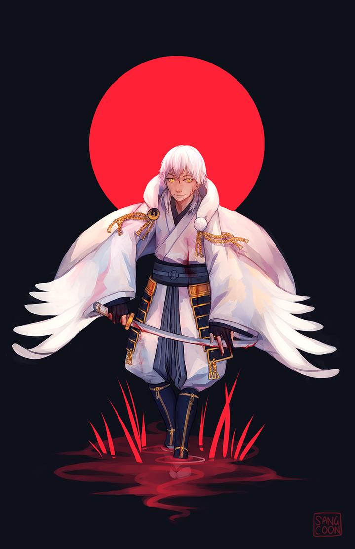 tkrb: crimson crane by Sangcoon