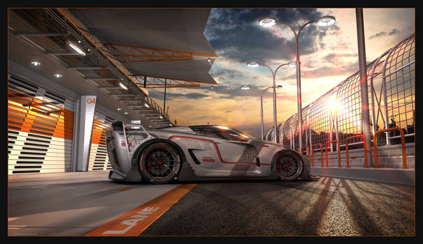 XIIIDster T10 - sunset at the pit lane