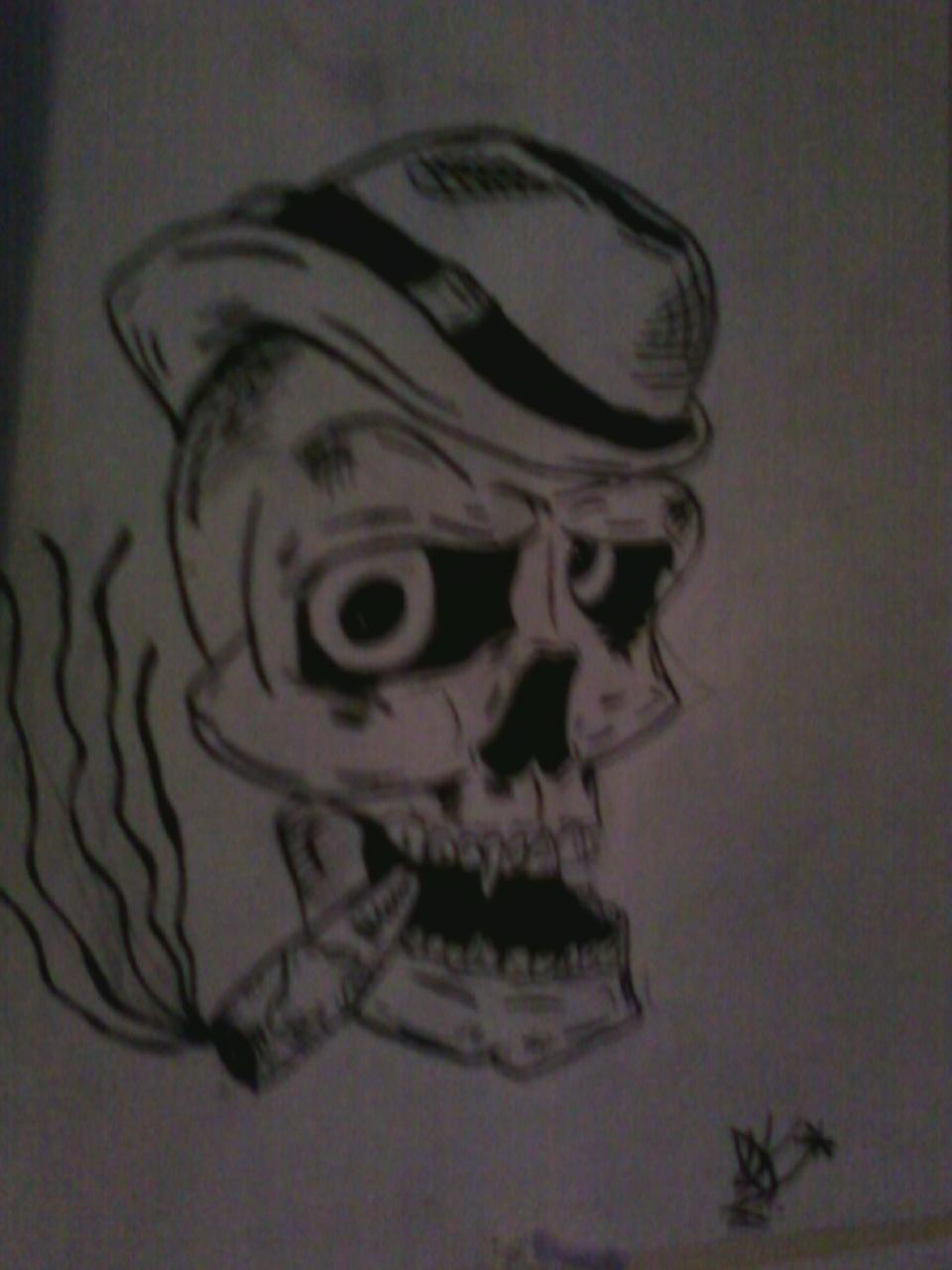 Smoking Skull Tattoo Design by Space-Jhonson on DeviantArt