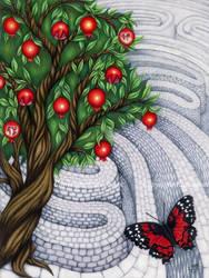 Pomegranate Tree by Flyttamouse