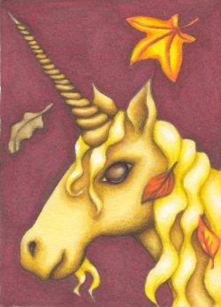 Autumn Unicorn by Flyttamouse