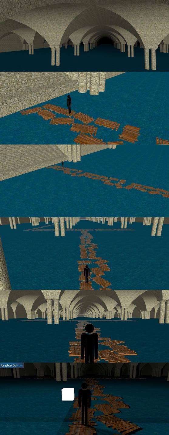 Carmilla's Cursed Castle concept: water level. by 1r0zz0
