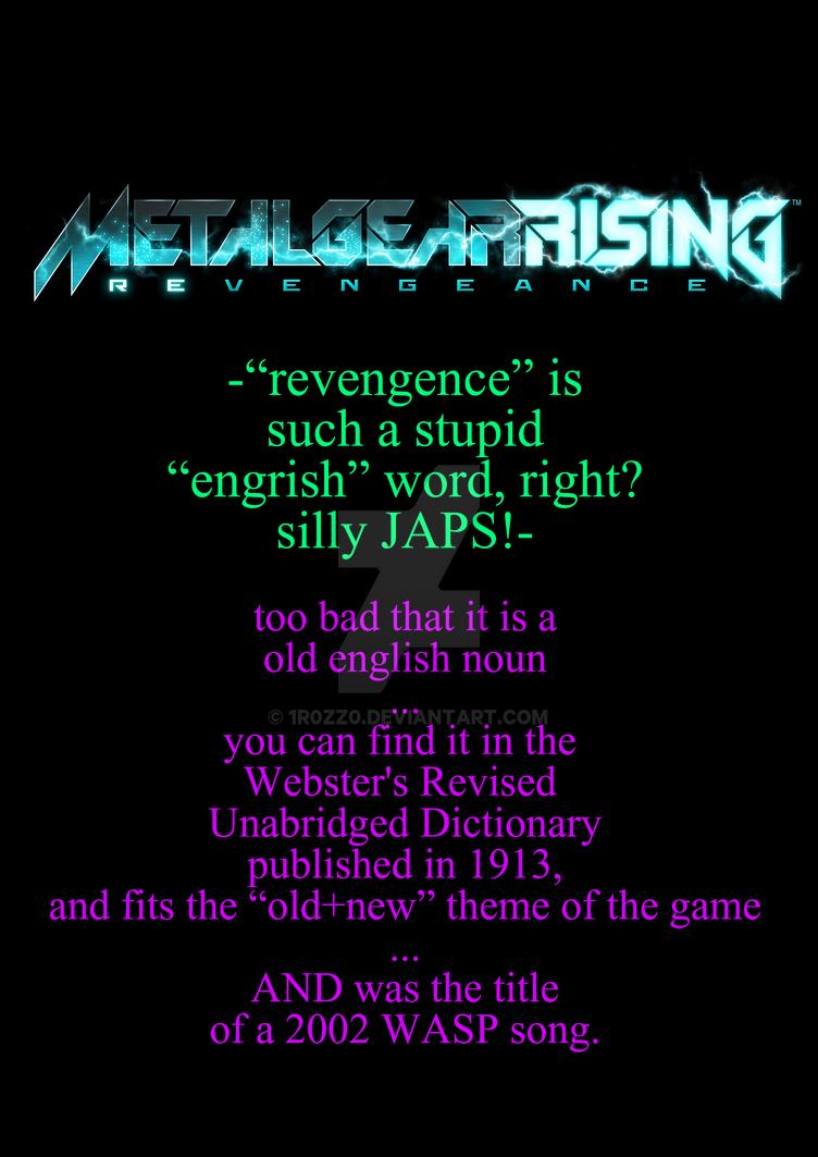 gamer's ignorance: revengence by 1r0zz0