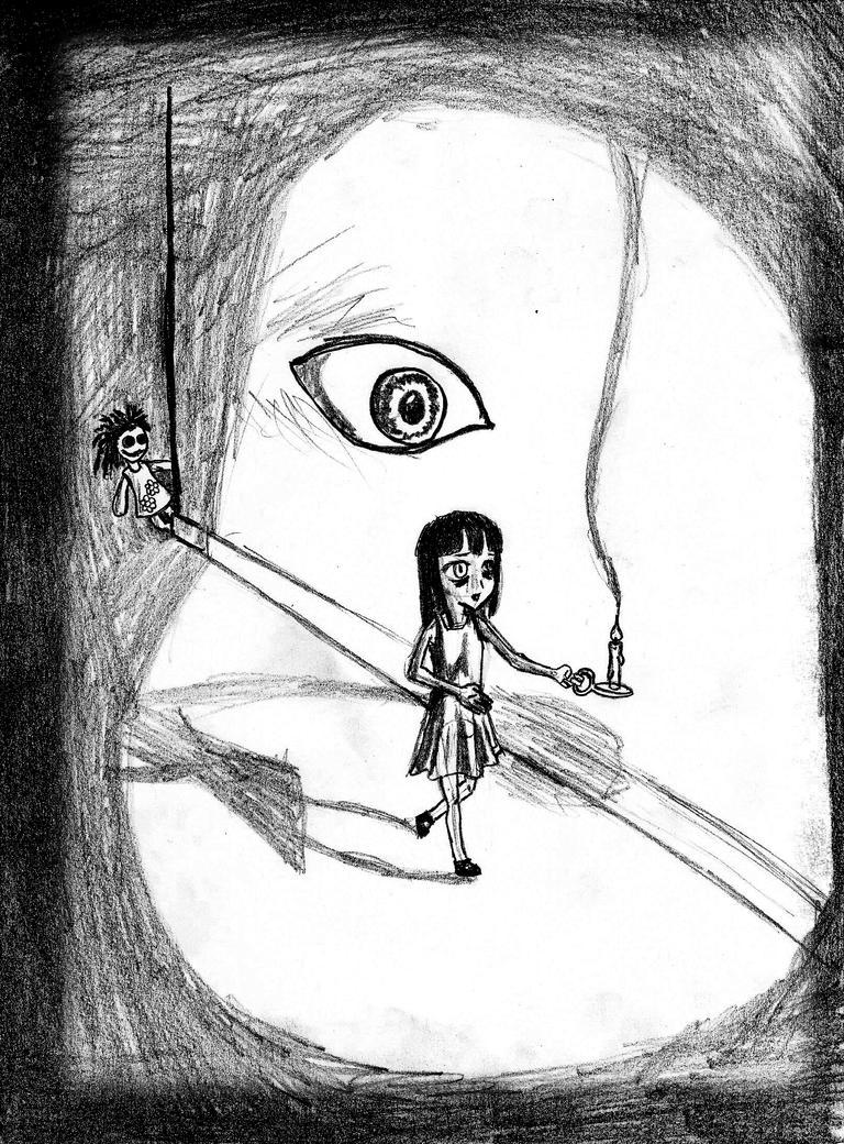 sad sad Dolly art with short horror story. by 1r0zz0