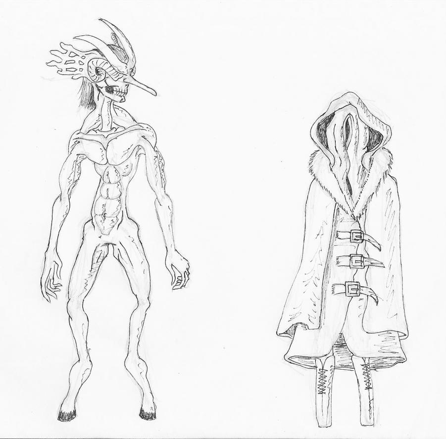 AetherMaze NPC allies early design. by 1r0zz0