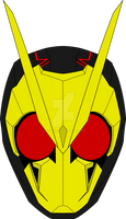 Kamen Rider Zero One face by a1ong