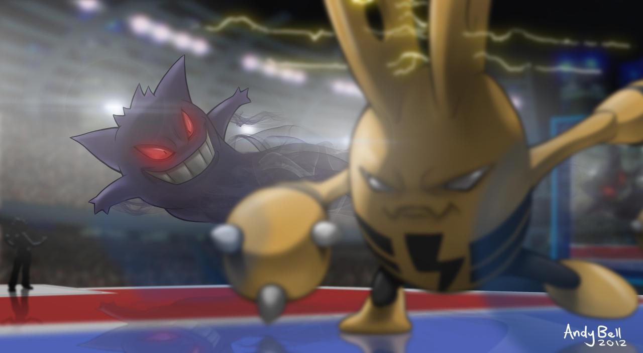 BATTLE! Elekid VS Gengar by ShadowedImages