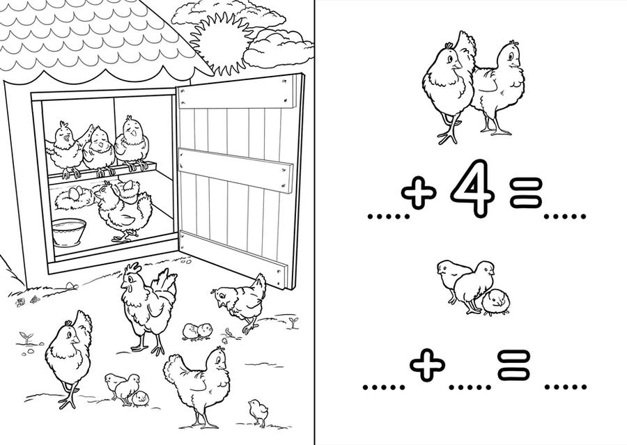 The pictures for Chicken Coop Coloring Pages