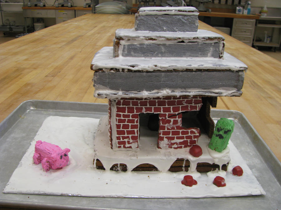 Derpy Minecraft Gingerbread House By Yexy On Deviantart