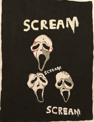 Scream/Ghost Face Fanart by Camelgangster