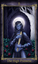 Faylwen Tarot The High Priestess (COMMISSION)