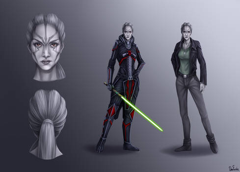 Dark Jedi Nightsister Concept-art (COMMISSION)