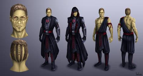 Dark Jedi Vrayth Concept-art (COMMISSION)
