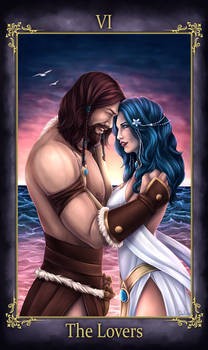 Bherin and Pleione Tarot The Lovers (COMMISSION)