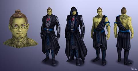 Dark Jedi Rian Taldrya Concept-art (COMMISSION)