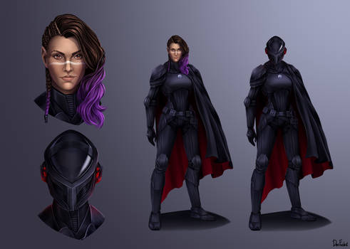 Amari Vhen Dark Jedi Conceptart (COMMISSION)