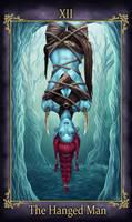 Telzi Tarot The Hanged Man (COMMISSION)