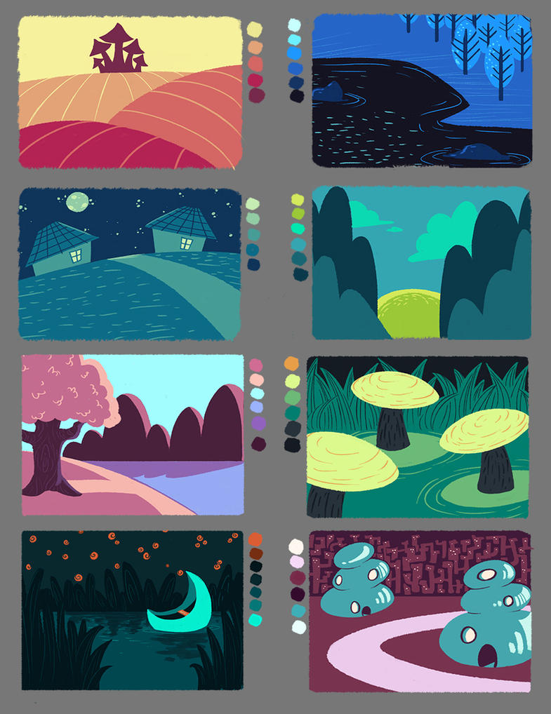 Pe painting with a limited colour palette by riemea on for Color palette for painting