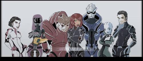 Mass Effect Cast by GainaSpirit