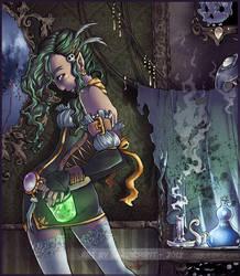 Green Sorceress by GainaSpirit
