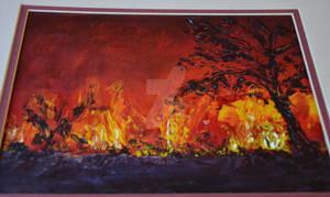 Oil Painted Bush Fire 2