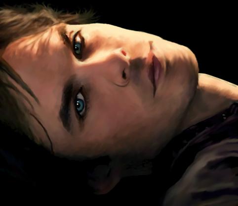 Damon Salvatore digital drawin by Meybeline
