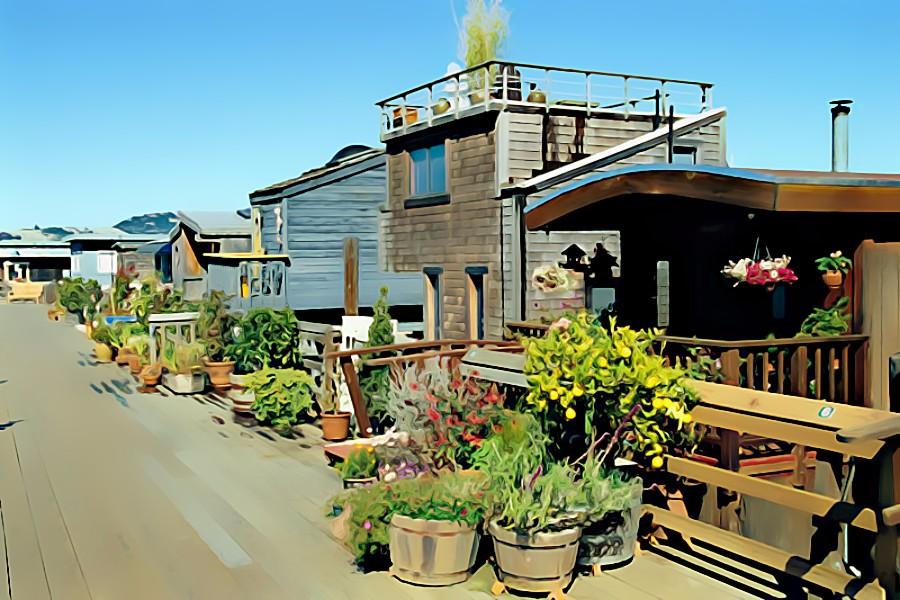 Sausalito Houseboats by PrincessJ420