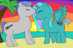 Me and my future Boyfriend :D as ponies :)