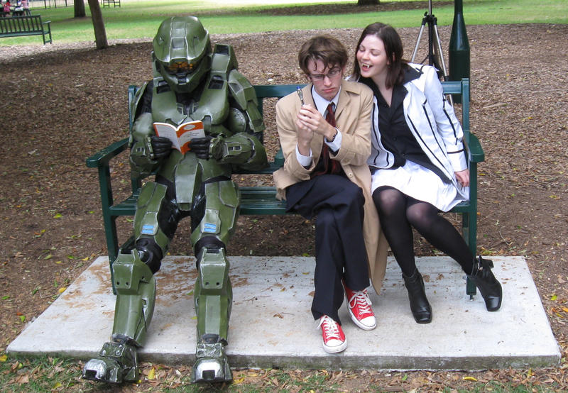 Master Chief,10th Doctor,Vamp by darkbhudda