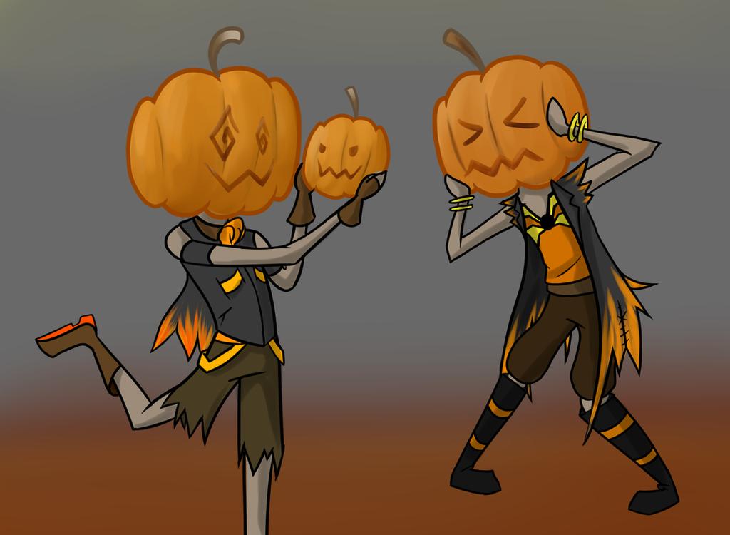 OC: Pumpkin head by InsaneMonkey46