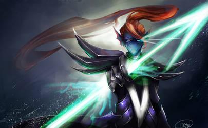 Battle against a true hero by MEGA1126