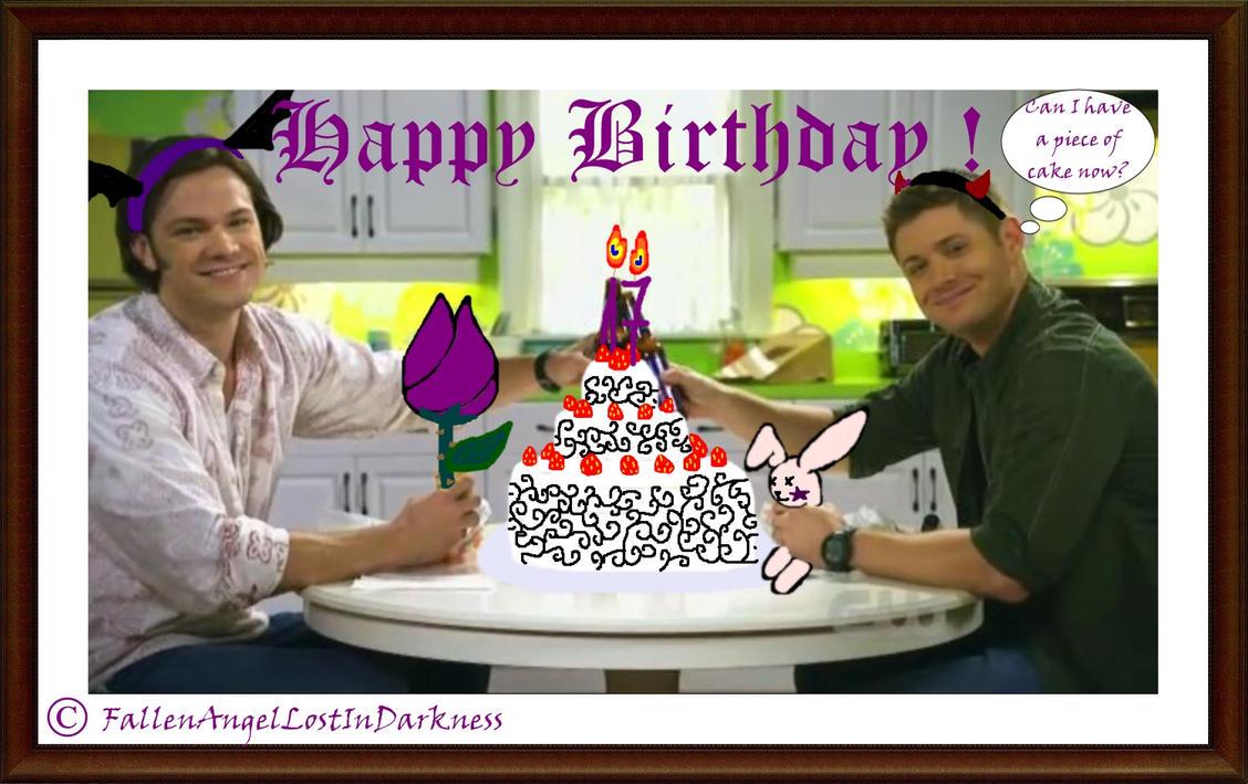 41d74d6fcd6a55e86f91ed76e2c4ed6a d3j8kll supernatural birthday card by fallenindarkness on deviantart