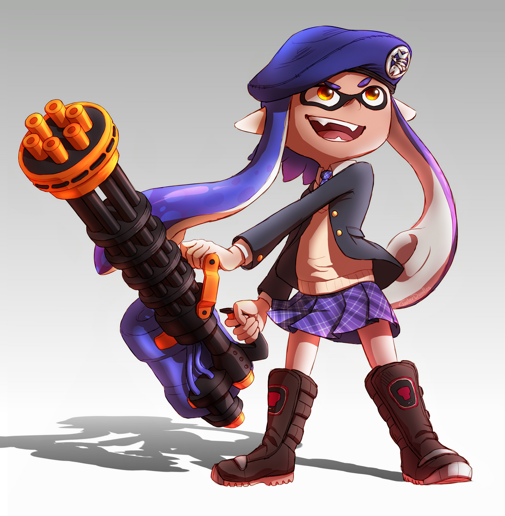 Inkling With Splatling By TooterDoodles On DeviantArt