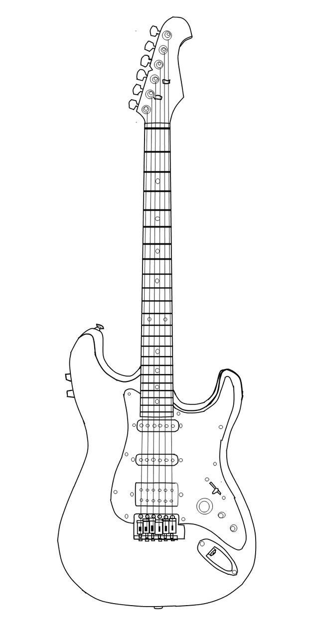 Line Art Guitar : Guitar lineart by warbetweenlegends on deviantart