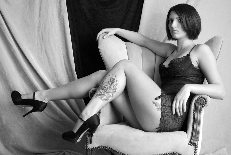 Betsy Black and White II I by CogentContent