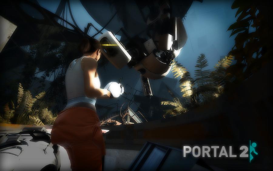 Portal 2 wallpaper by exile-chan