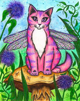 Dea The Dragonfly Fairy Cat by tigerpixieart