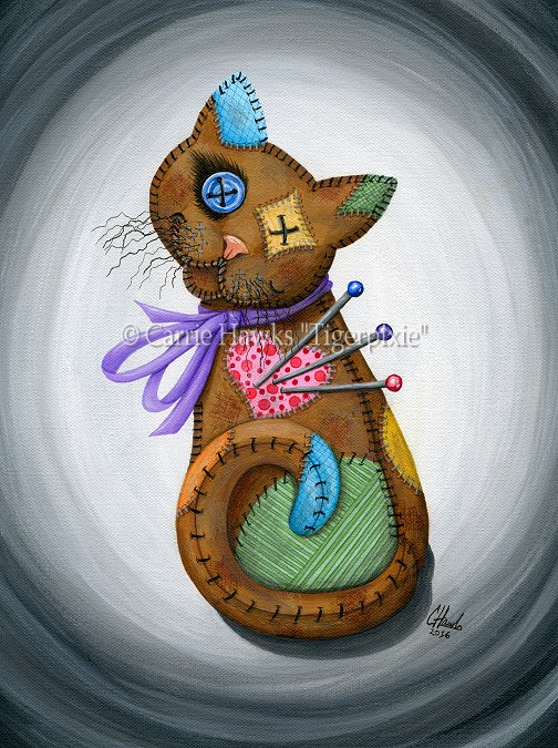 Voodoo Cat Doll by tigerpixieart