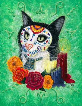 Day of the Dead Cat Candles