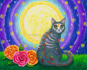 Day of the Dead Cat Moon