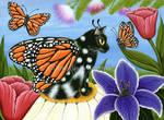 Monarch Butterfly Fairy Cat by tigerpixieart