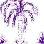 Indigo Palm Tree