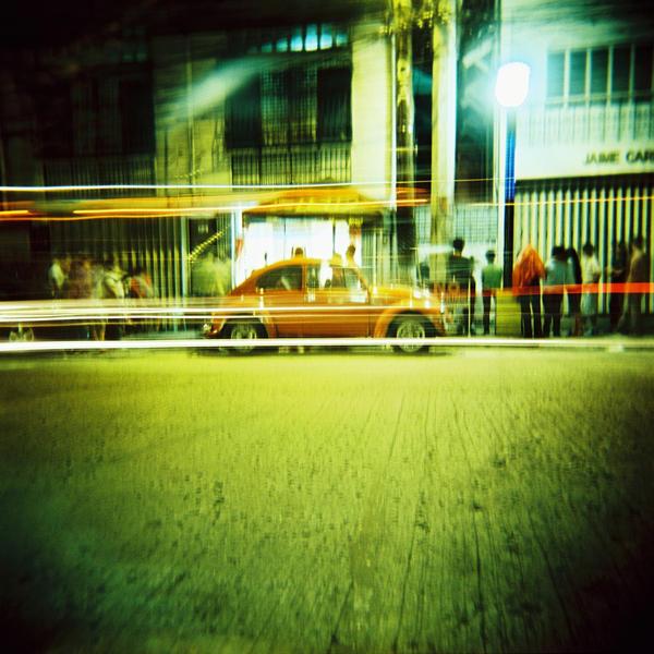 Holga 120N medium format camera, Kodak Ektachrome 100s slide film, crossprocessed.