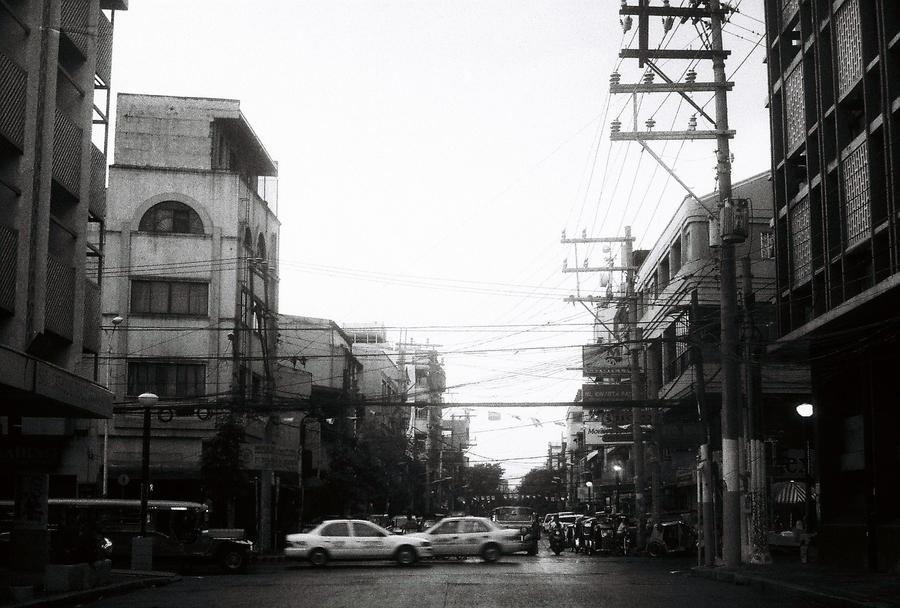 Canon FTQL SLR camera, Lucky Black and White film.