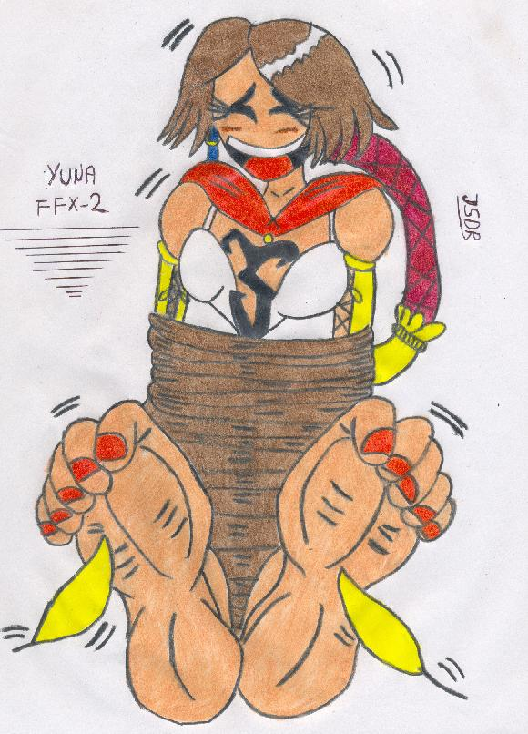 Another Yuna Tickling drawing by falcontk