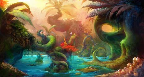 Monsters jungle doodoo concept art