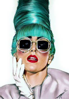 Lady Gaga Drawing by Davy Oldenburg - Singapore